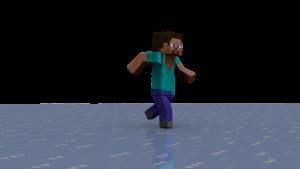 Lopend figuurtje uit Minecraft