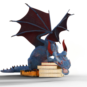 draak op boekene