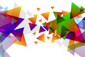 verschillende gekleurde driehoeken