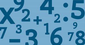 blauwe achtergrond en getallen