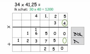 screenshot video : 41,25*34 cijferoefening