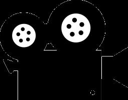 Het silhouette van een camera.