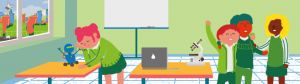 Header of the website 'Welcome to the classroom of the future'