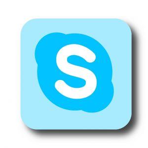 Logo van Skype