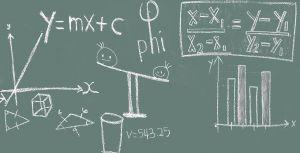krijtbord met wiskundige formules