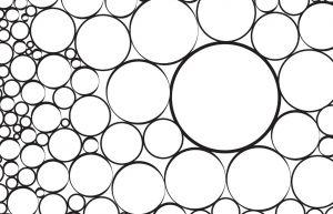 Opdrachtenblad met cirkels in verschillende groottes