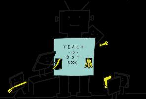 Robot geeft les