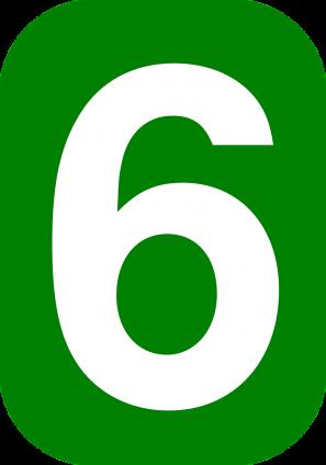 zes rechthoek afgerond