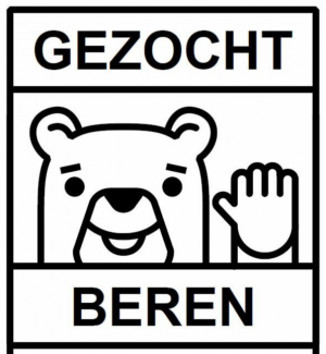 Affiche met een beer