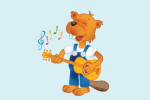 Afbeelding Ben de Bever die aan het zingen is