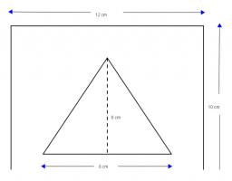 driehoek in een rechthoek
