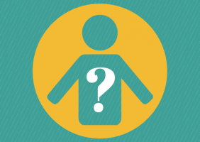 person with question mark at