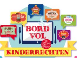 Logo van de website bord vol kinderrechten