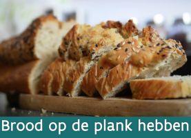 brood op een houten plank