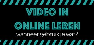 Video in online leren