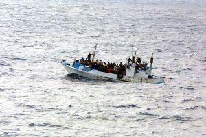 vluchtelingen op een bootje