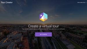 Homepage van Tour Creator