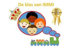 Screenshot site met titel de klas van IMMI