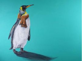 pinguïn met sjaal