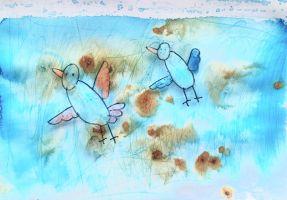 Kunstwerk van waterverftechnieken - Lynn Bruggeman