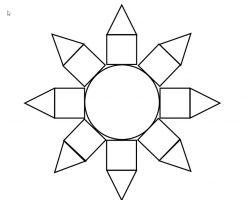Blanco bloem uit de puzzel