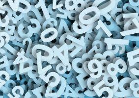 witte cijfers door elkaar