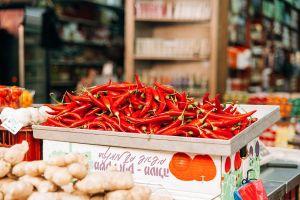 groenten in marktkraam