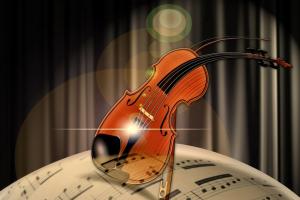 viool op een partituur