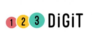 Logo met tekst 1 2 3 Digit