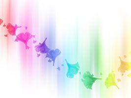 vlekken in de kleuren van de regenboog