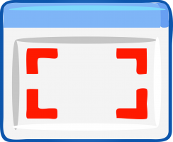 tekening van computerscherm met selectievakje
