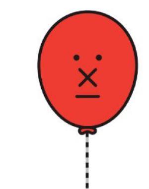 deelballon: ballon met gezicht