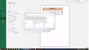scherm met rekenbladprogramma