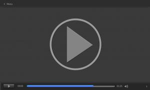 Een videoscherm op een computer.