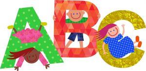 Letters ABC in verschillende kleuren
