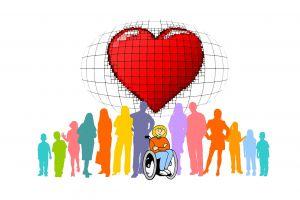 Een hart voor mensen met een beperking .
