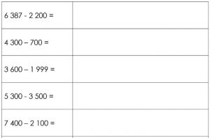 enkele vb-oefeningen : 6387-2200 / 4300-700 / ....