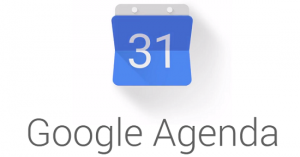 Het logo van Google Agenda.