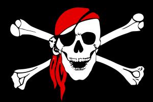 doodshoofd van een piraat