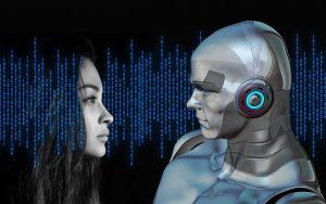 robot en een vrouw