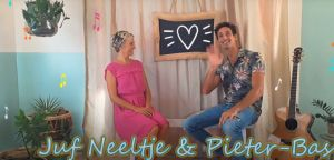 Screenshot video juf Neeltje en meester Pieter-Bas