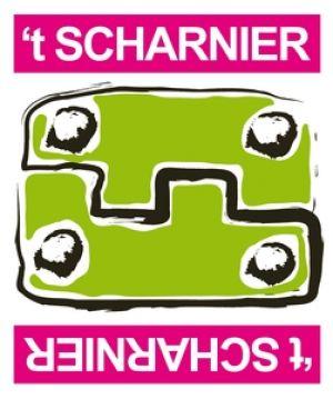 logo 't scharnier, een groen scharnier