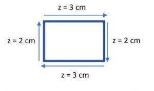 rechthoek met afmetingen van zijden