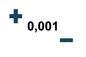 0.001 + -