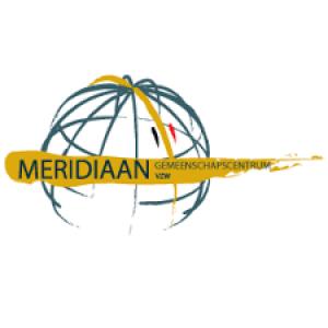 Logo Meridiaan vzw wereldbol met meridianen