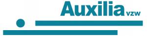 auxilia vzw een punt en twee blauwe lijnen
