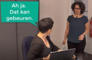 Een stukje dialoog van de taalraps