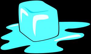 ijsblokje smelt