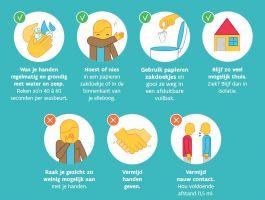 affiche preventieve maatregelen corona Zorg en gezondheid