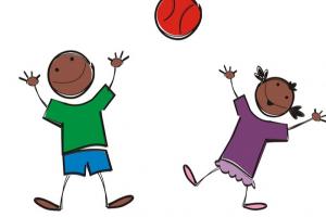 kinderen gooien et de bal